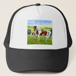 Tri Paint Mother and Foal Trucker Hat