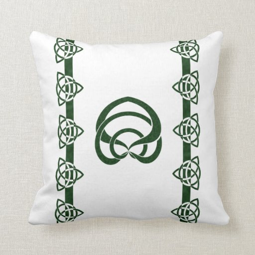 Tri-Point Celtic Knot; Serpent Center Throw Pillows