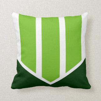 Tri-point Green & White Throw Pillow
