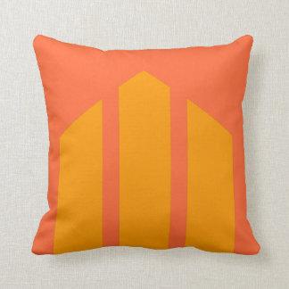 Tri-point Orange Throw Pillow