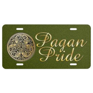 Tri-Quatra pájaros 4 del orgullo pagano - placa Placa De Matrícula