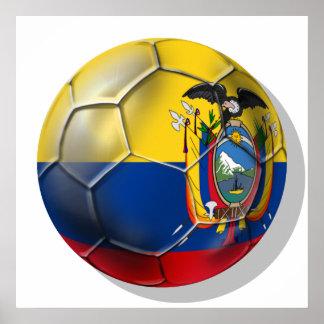 Tri regalos de la bola del futbol del fútbol de Ec Póster