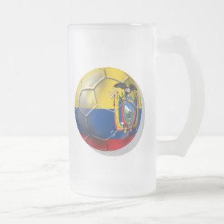 Tri regalos de la bola del futbol del fútbol de Ec Taza Cristal Mate