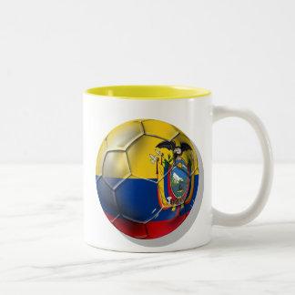 Tri regalos de la bola del futbol del fútbol de Ec Tazas De Café