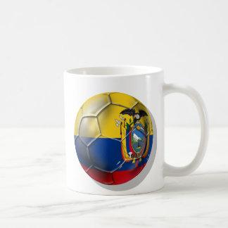 Tri regalos de la bola del futbol del fútbol de Ec Taza Básica Blanca