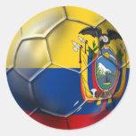 Tri regalos de la bola del futbol del fútbol de pegatina redonda