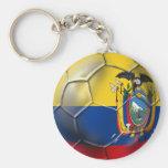 Tri regalos de la bola del futbol del fútbol del m llavero redondo tipo pin