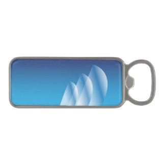 Tri-Sail Translucent Blue Sky Magnetic Bottle Opener