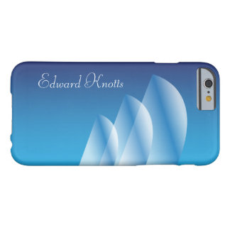 Tri-Sail Translucent Blue Sky personalized Barely There iPhone 6 Case