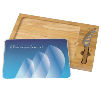 Tri-Sail Translucent Blue Sky_personalized Cheese Board