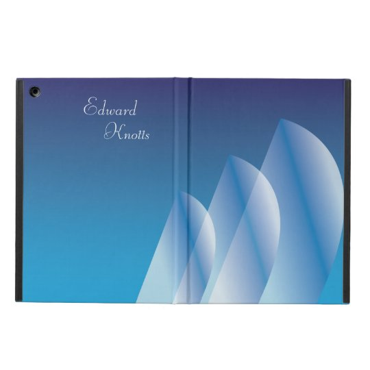 Tri-Sail Translucent Blue Sky personalized iPad Air Cases
