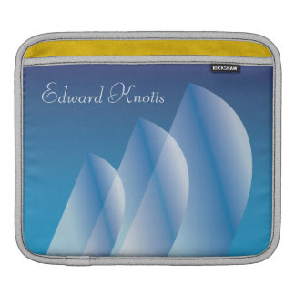 Tri-Sail Translucent Blue Sky_personalized iPad Sleeve