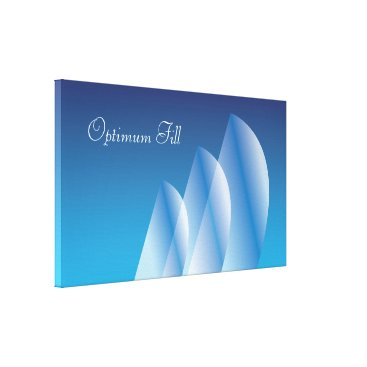 Beach Themed Tri-Sail Translucent_Optimum Fill_Blue Sky Canvas Print