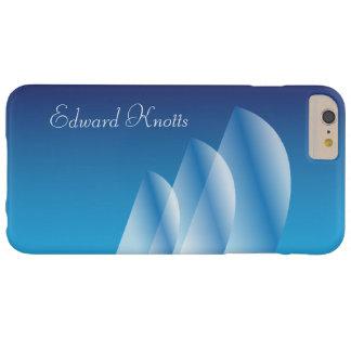 Tri-Sail_Translucent Sails_Blue Sky_personalized Funda De iPhone 6 Plus Barely There