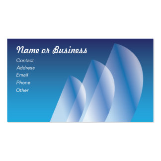 Tri-Sail_translucent sails Double-Sided Standard Business Cards (Pack Of 100)