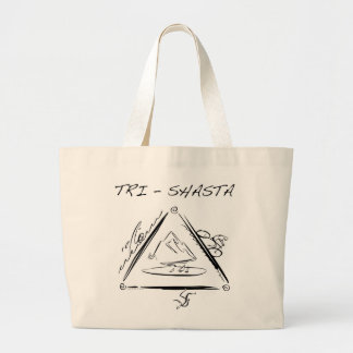 Tri-Shasta-Triathalon Large Tote Bag