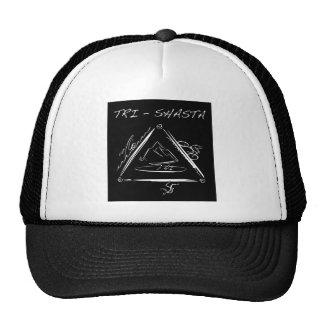 Tri-Shasta-Triathalon-Logo  (White on Black) Trucker Hat