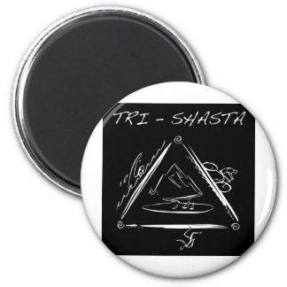 Tri-Shasta-Triathalon-Logo  (White on Black) Magnet