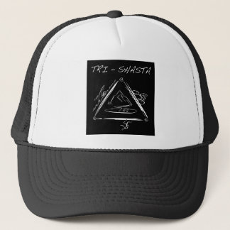 Tri-Shasta-Triathalon-Logo  (White on Black) Trucker Hat
