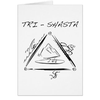 Tri Shasta Triathalon Logotipo Tarjeta