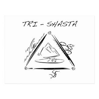 Tri Shasta Triathalon Logotipo Tarjeta Postal