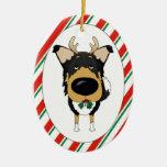 Tri Smooth Collie Christmas Ornament