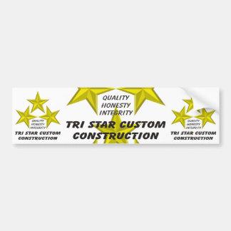 Tri Star Custom Construction Product/s Car Bumper Sticker