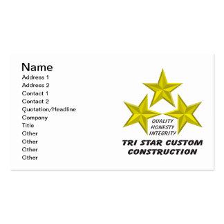Tri Star Custom Construction Product/s Business Card