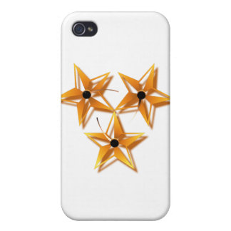 TRI STAR - GOLDEN iPhone 4 COVERS
