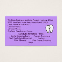 Tri-State Dental Hygiene Business Card