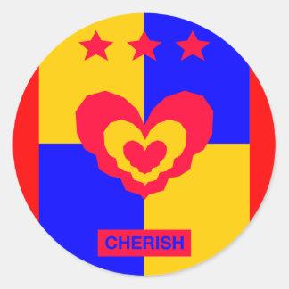 Tri Stella Forte - Cherish Classic Round Sticker