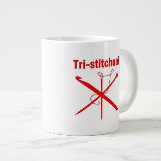 Tri-stitchual Mug