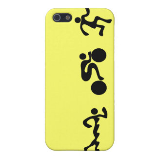 TRI Triathlon Swim Bike Run BLACK Bumper Design Case For iPhone SE/5/5s