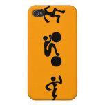 TRI Triathlon Swim Bike Run BLACK Bumper Design iPhone 4/4S Case