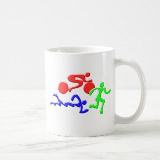 TRI Triathlon Swim Bike Run COLOR Figures Design Mug