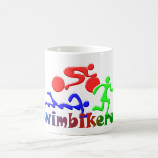 TRI Triathlon Swim Bike Run COLOR Figures Design Mugs