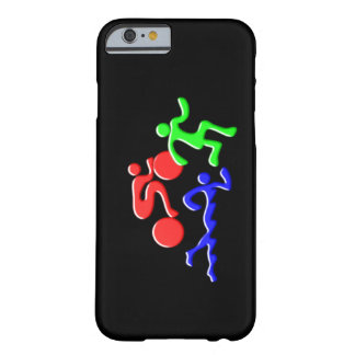 TRI Triathlon Swim Bike Run Figures Design Barely There iPhone 6 Case