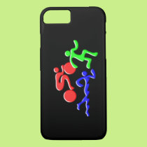TRI Triathlon Swim Bike Run Figures Design iPhone 8/7 Case