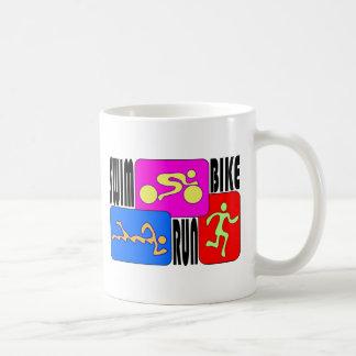 TRI Triathlon Swim Bike Run Mug