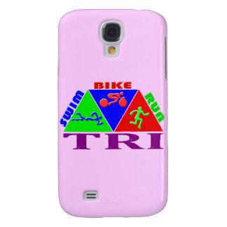 TRI Triathlon Swim Bike Run PYRAMID Design Galaxy S4 Case