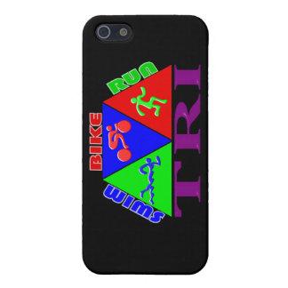 TRI Triathlon Swim Bike Run PYRAMID Design iPhone SE/5/5s Case
