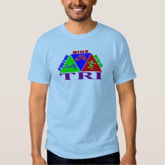TRI Triathlon Swim Bike Run PYRAMID Design Shirt