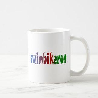 TRI Triathlon Swim Bike Run RAINBOW Design Coffee Mug