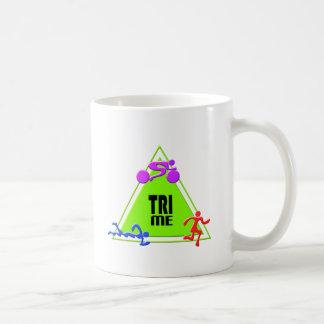 TRI Triathlon Swim Bike Run TRIANGLE TRI ME Design Coffee Mug