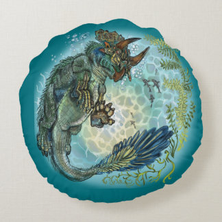 Tri-turtletops Dinosaur Round Pillow