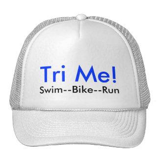 ¡Tri yo! , Nadada--Bici--Funcionamiento Gorros