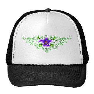 Triabl orchid trucker hat