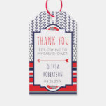Triabl Thank You Tag, Boho, Red and Navy Gift Tags