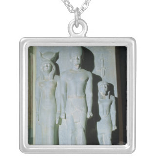 Triad of Menkaure Silver Plated Necklace