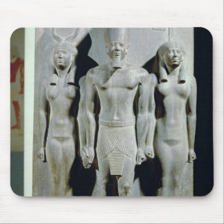 Triad of Menkaure  with the goddess Hathor Mouse Pad